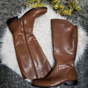 EASY SPIRIT Tall Brown Leather Boots